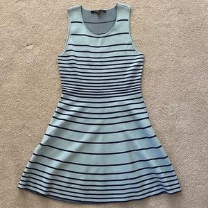 NEVER WORN SUMMER BLUE STRIPE FIT AND FLARE!!!